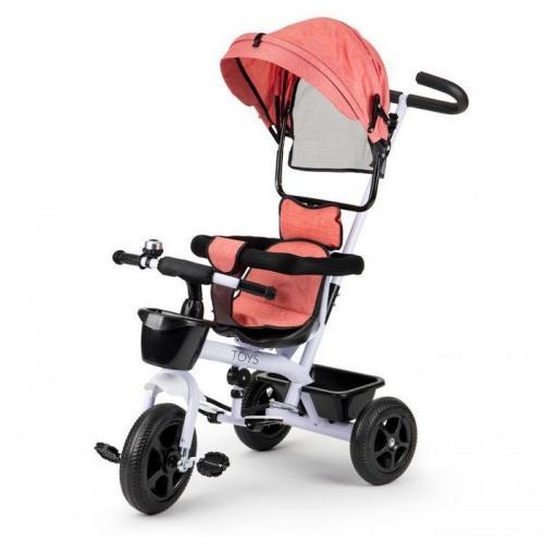 Tricicleta ecotoys bw-212 - roz - Plimbare bebe - Triciclete copii