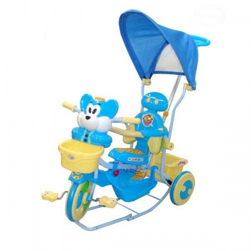 Tricicleta eurobaby 2830ac - albastru - Plimbare bebe - Triciclete copii