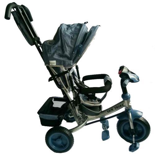 Tricicleta multifunctionala cu sunete si lumini Lux Trike dark grey - Plimbare bebe - Triciclete copii