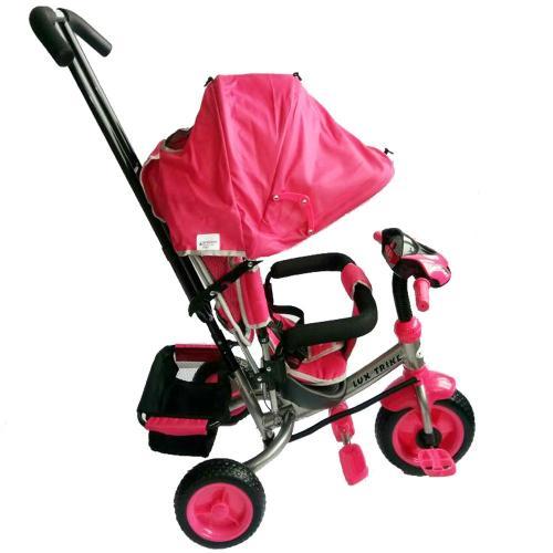 Tricicleta multifunctionala cu sunete si lumini Lux Trike Pink - Plimbare bebe - Triciclete copii