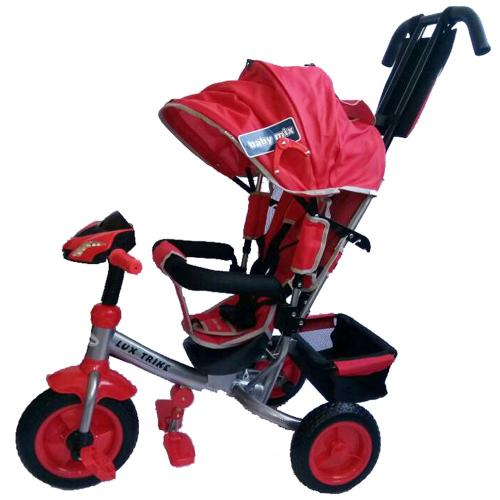 Tricicleta multifunctionala cu sunete si lumini Lux Trike Red - Plimbare bebe - Triciclete copii