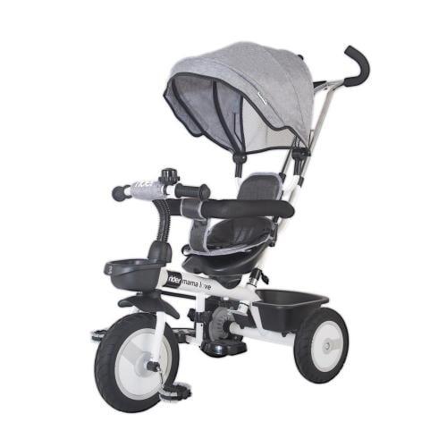 Tricicleta multifunctionala MamaLove Rider Gri - Plimbare bebe - Triciclete copii