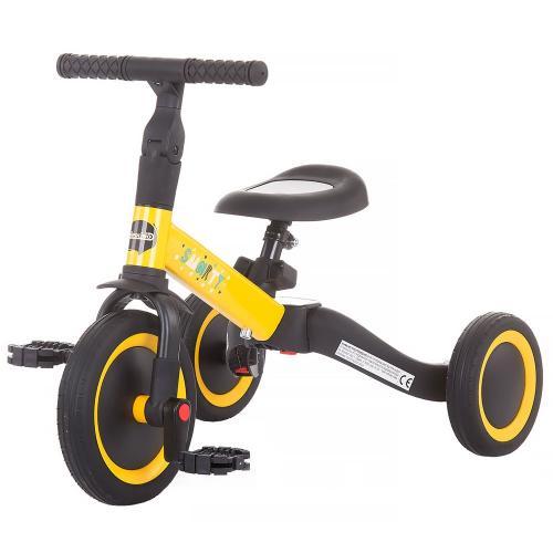 Tricicleta si bicileta Chipolino Smarty 2 in 1 yellow - Plimbare bebe - Triciclete copii
