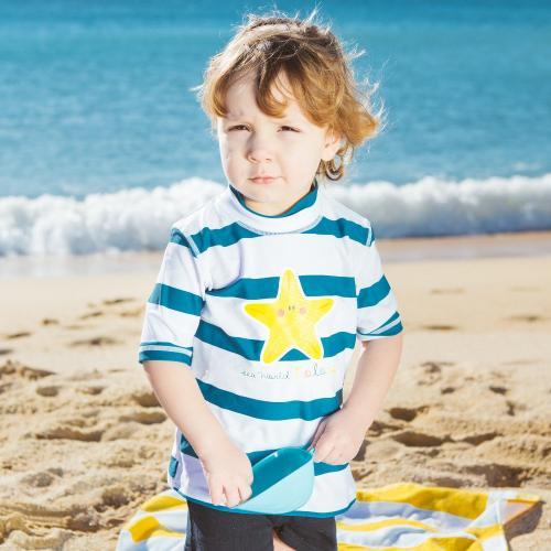 Tricou cu protectie solara Sea World Colors talia 4 - Jucarii bebelusi - Jucarii baita