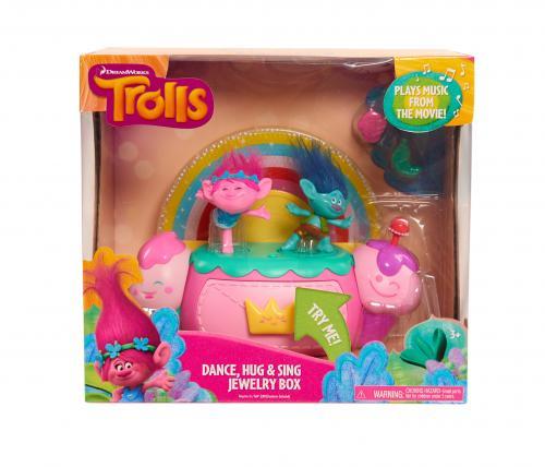 Trolls - Cutie de bijuterii cu efecte luminoase si sunete - Jucarii copilasi -