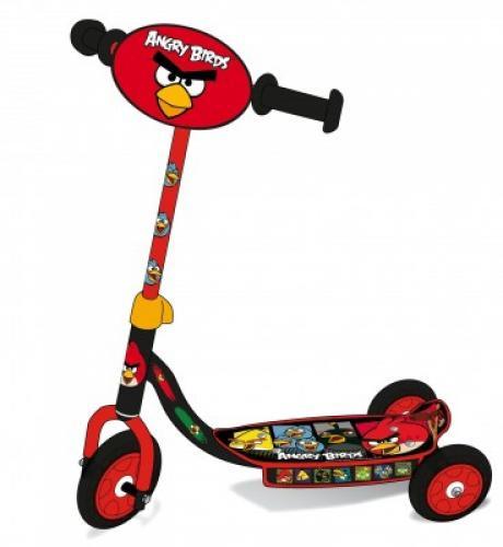 Trotineta 3 roti Saica Angry Birds - Plimbare bebe - Trotineta