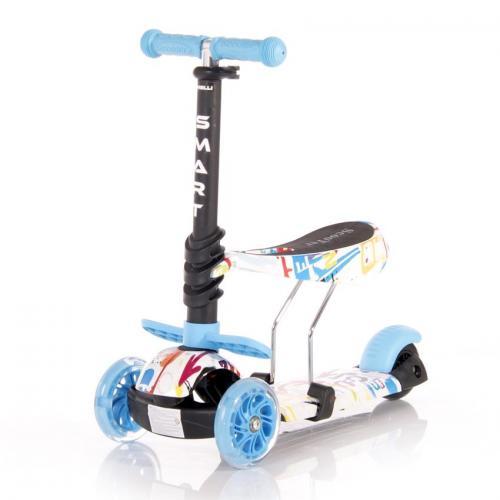Trotineta pentru copii smart - blue - Plimbare bebe - Trotineta