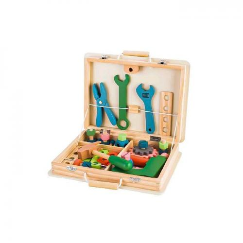 Trusa cu unelte din lemn ecotoys tl80014 - Jucarii Montessori -