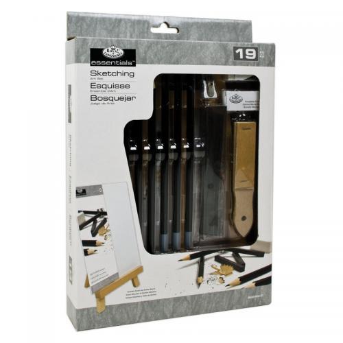 Trusa schite creion si sevalet 19 piese 21x33 cm - Rechizite - Pictura si desen