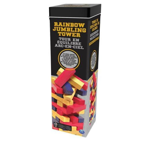 Turnul buclucas cu piese colorate in cutie de metal - Jocuri pentru copii - Jocuri societate