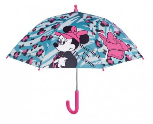 Umbrela manuala 38 cm cu inchidere cu siguranta Minnie bleu - Plimbare bebe - Genti carucioar