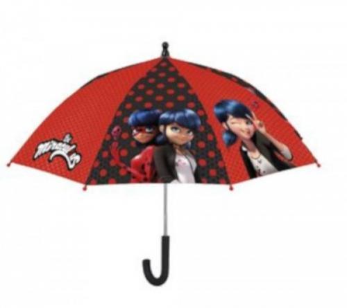 Umbrela manuala 42 cm cu inchidere cu siguranta Lady Bug - Plimbare bebe - Genti carucioar