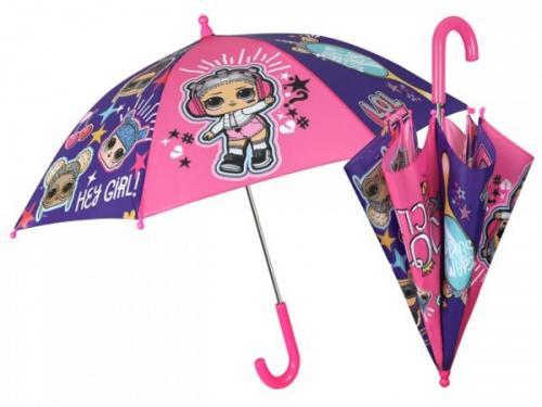 Umbrela manuala 42 cm cu inchidere cu siguranta LOL Surprise - Plimbare bebe - Genti carucioar