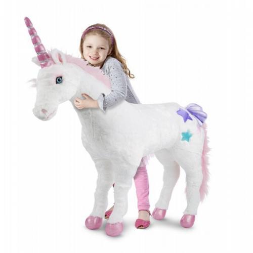 Unicorn Gigant Din Plus Melissa And Doug - Jucarii copilasi - Jucarii din plus