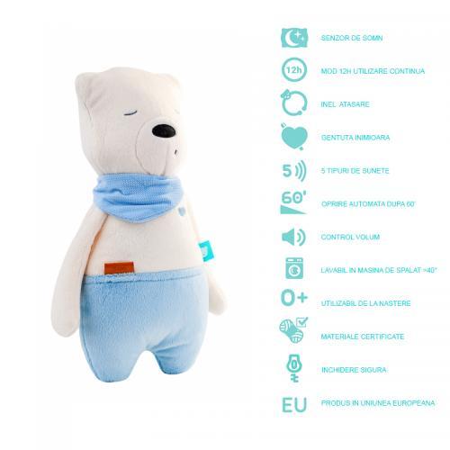 Ursulet myHummy Sam Premium cu senzor de somn - Camera bebelusului - Lampa de veghe