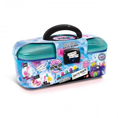 Valiza cu bombite spumante cu decoratiuni pentru baie - Jucarii copilasi - Toys creative
