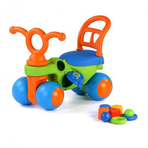 Vehicul Croco-cicleta cu forme - Coloma - Plimbare bebe - Masinute fara pedale