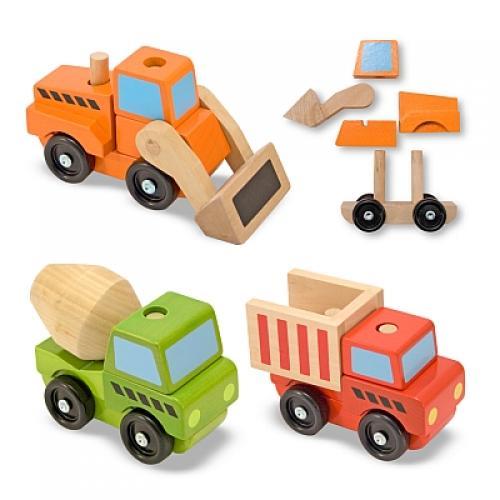 Vehicule Utilitare Pentru Constructii Din Lemn Melissa And Doug - Jucarii copilasi - Jucarii educative bebe