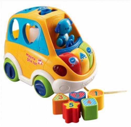 Vtech Masina Stie Tot - 70112 - Jucarii bebelusi -