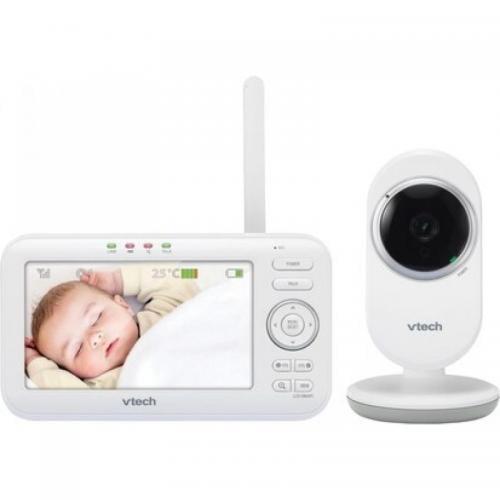 Vtech - Videointerfon digital bidirectional 5 inch VM5252 cu melodii si infrarosu - Camera bebelusului - Monitoare