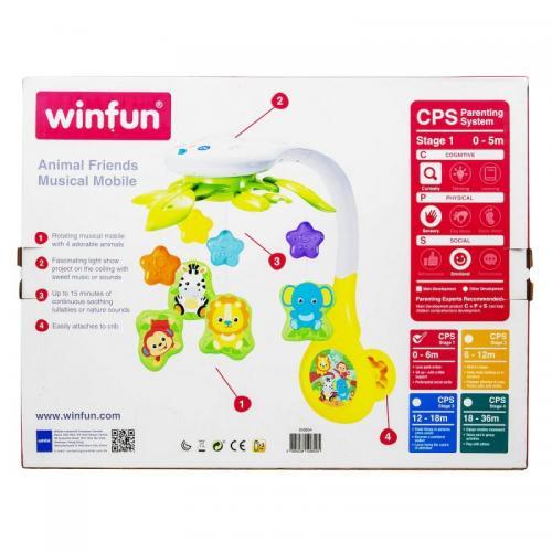 Winfun - Carusel muzical cu proiector Zoo - Carusele muzicale -