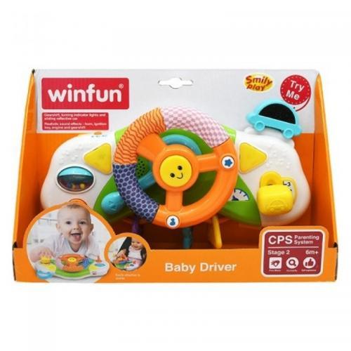 Winfun - Jucarie volan muzical pentru carucior si patut Baby Driver - Jucarii copilasi -