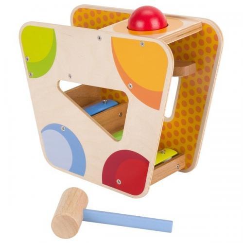 Xilofon din lemn cu ciocan si bile - Jucarii bebelusi -